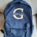 Sac à dos bleu marine Gaspard