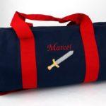 Bleu marine anses rouge Marcel